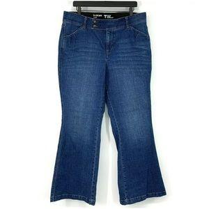 Lane Bryant Blue Denim Tighter Tummy Flare Jeans